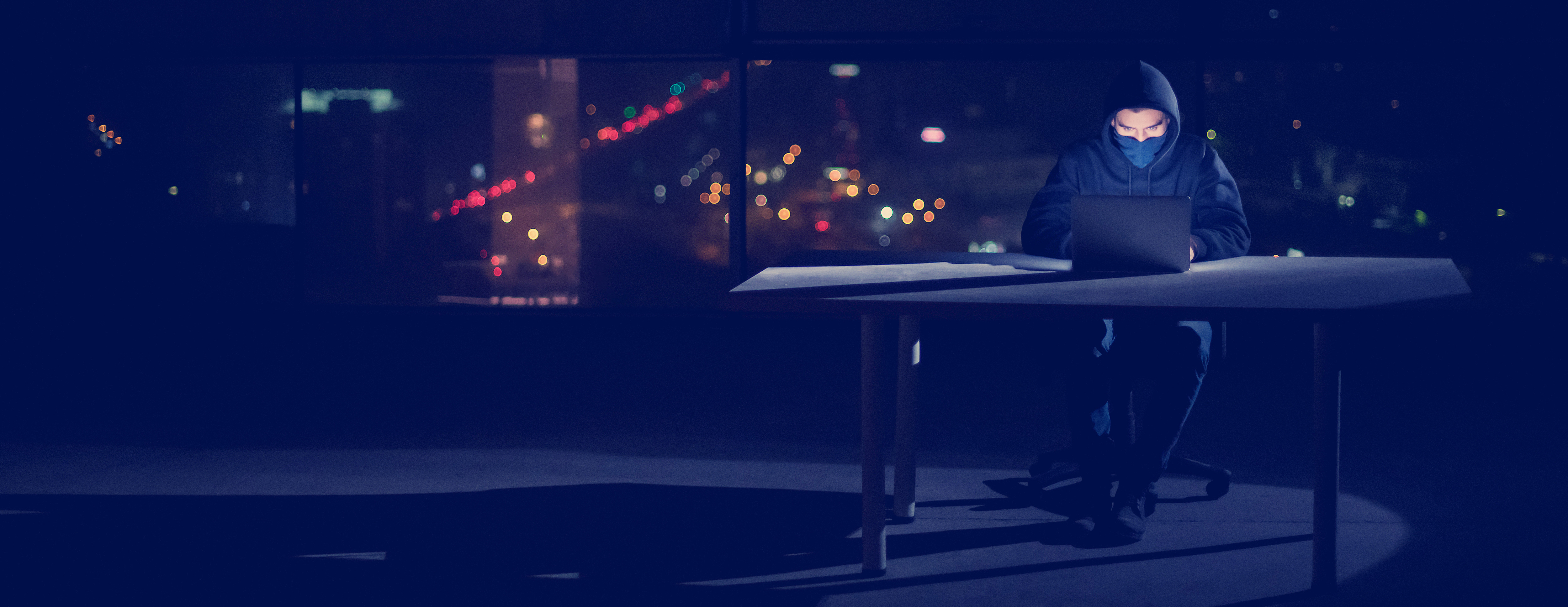 hacker in the city cybersecurity